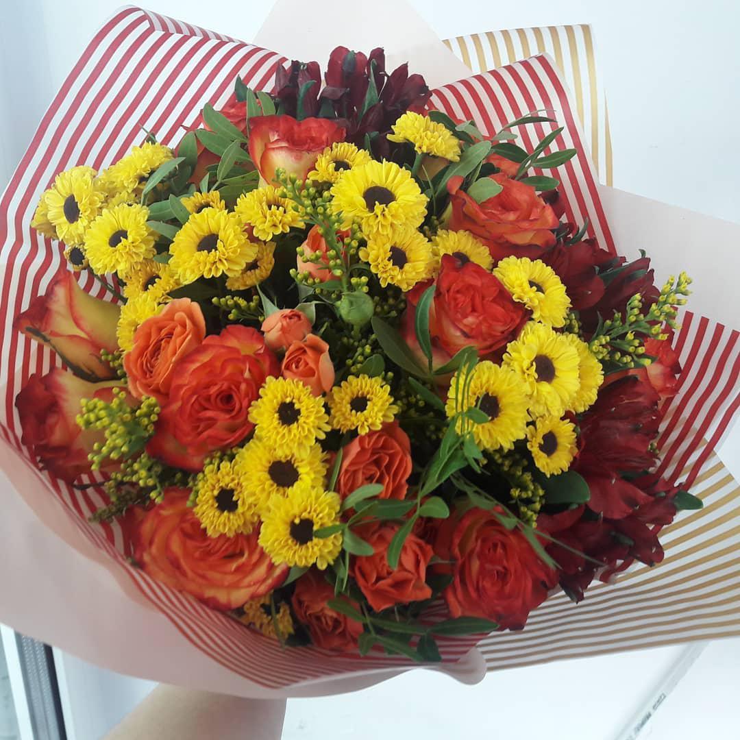 Цветами зефиром, букет на заказ челябинске